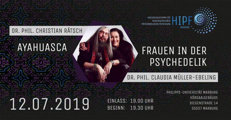 Psychonautischer Sommerabend – Christian Rätsch und Claudia Müller-Ebeling in Marburg